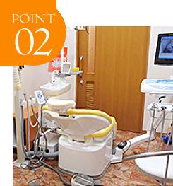 えんどう歯科・矯正歯科クリニックの矯正治療のポイント2。完全個室診療室、キッズスペース付診療室を完備。